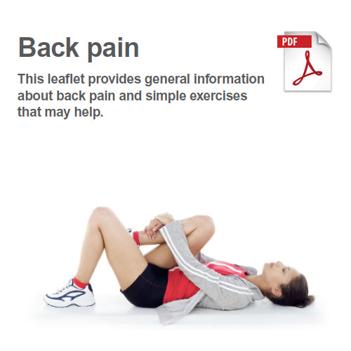 Exercises to manage back pain