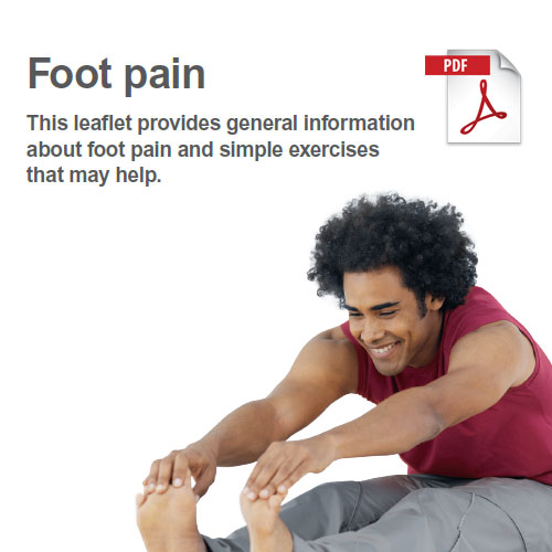 Exercises to manage foot pain