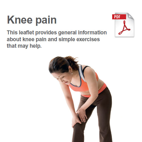 Exercises to manage knee pain