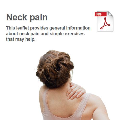 Exercises to manage neck pain