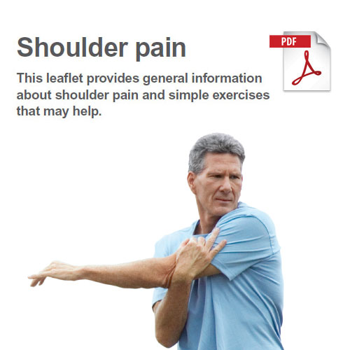 Exercises to manage shoulder pain