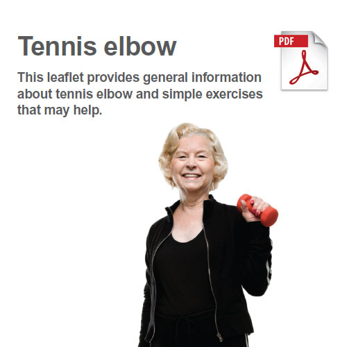Exercises to manage tennis elbow