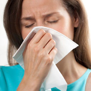 Pain on coughing and sneezing